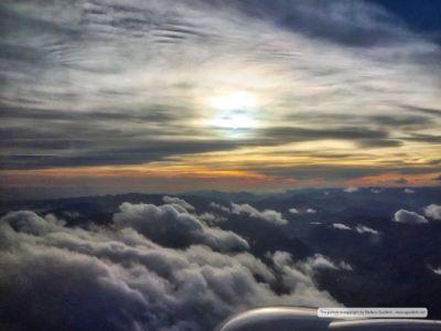 In volo verso l'Italia